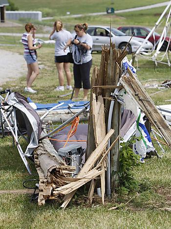 Ichthus - storm damage
