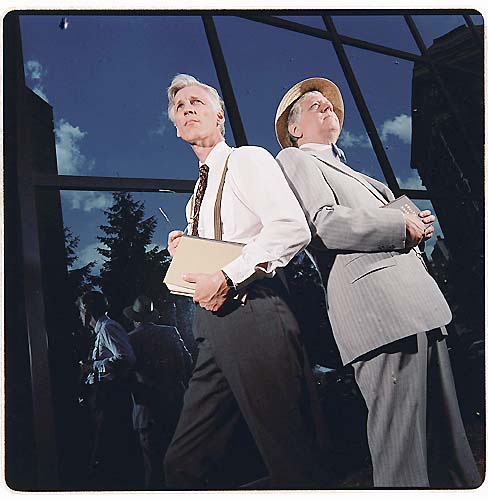 "2000: Eric Johnson and Roger Leasor in ""Inherit the Wind"""