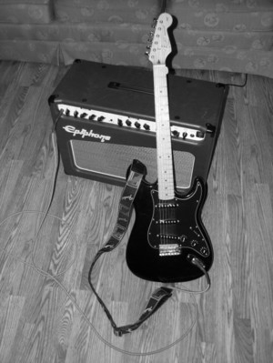Stratocaster_and_firefly_bw